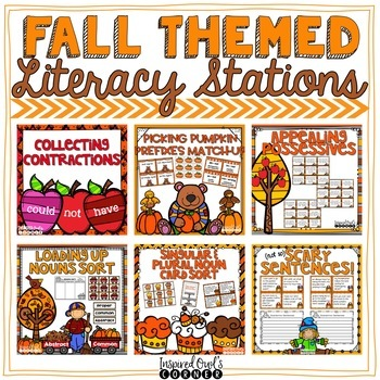 Fall Literacy Centers {6 CCSS ELA Centers for Second and Third Grade}