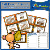 Fall Furry Friends Multiplication Arrays Task Cards With Response Sheet & Answer