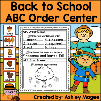 Fall Fun ABC Order Center/Station with differentiation options