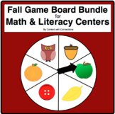 Fall Sight Word Game Board Bundle, for Math Facts too! 6 Editable Themes!