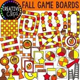 Fall Game Board Clipart {Creative Clips Clipart}