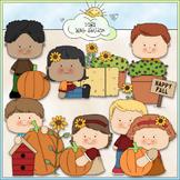 Fall Garden Kids Clip Art - Fall Clip Art - Autumn Clip Ar