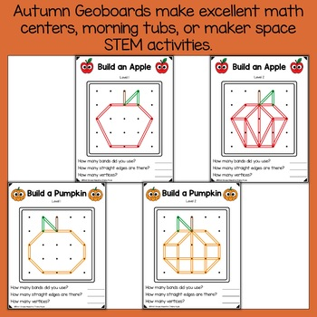 Fall Geoboard Task Cards
