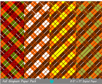 Fall Gingham Paper Pack