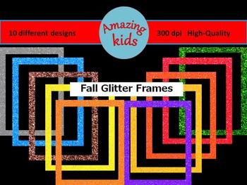 Fall Glitter Frames