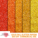Fall Glitter Papers