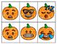 Fall Glitter Pumpkin Emoji Partner Cards