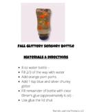 Fall Glittery Sensory Bottle