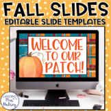 Fall Google Slides Templates Distance Learning