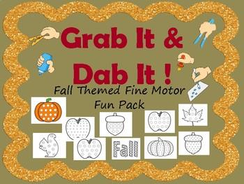 Fall Grab and Dab Fine Motor Fun Pack