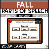 Fall Grammar BOOM CARDS: Parts of Speech