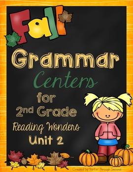 Fall Grammar Centers for Reading Wonders Unit 2 Grade 2