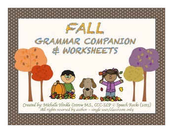Fall Grammar Companion & Worksheets
