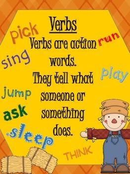 Grammar Pack- Parts of Speech- Fun Fall Theme!