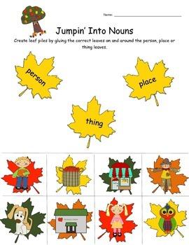 Fall Grammar Packet - K - 1st