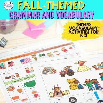 Fall Grammar & Vocabulary Pack