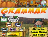 Fall Grammar Write The Room: Nouns and Verbs