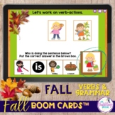 Fall Grammar and Vocabulary Boom Cards™