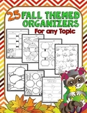 Fall: Graphic Organizers for Writing, Reading, or Any Subject