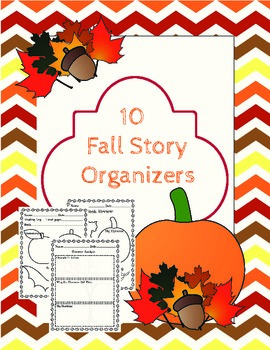 Fall Graphic Organizers for Fiction Stories