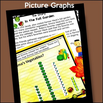 Fall Bar Graphs and Pictographs NO PREP Graphing With Worksheets