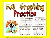 Fall Graphing Practice for Kindergarten