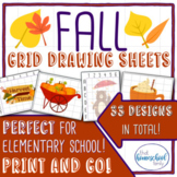 Fall Grid Drawing Set - Elementary and Homeschool