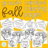 Fall Growth Mindset Coloring Pages Thanksgiving Turkey, Ap