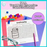 Fall Guided Grid Drawing: No Prep Visual Motor Integration Packet
