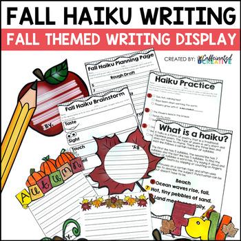 Fall Haiku Writing Templates for Bulletin Board Displays