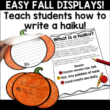 Fall Haiku Writing Templates for Bulletin Board Displays