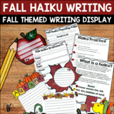 Fall Haiku Templates for Bulletin Boards