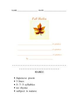 Fall Haiku Poetry Form