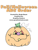 Fall Halloween ABC Order