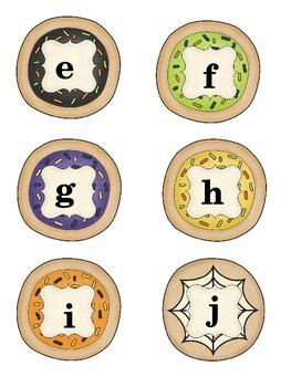 Fall & Halloween Alphabet Cookie Sort Literacy Center