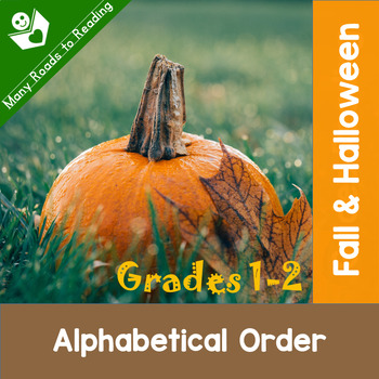 Fall and Halloween Alphabetical Order Grades 1-2