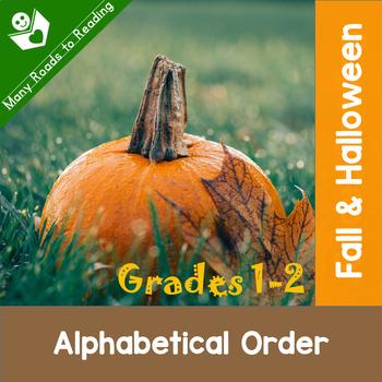 Fall & Halloween Alphabetical Order: Grades 1-2