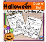 Fall Halloween Articulation Activity | Speech Therapy | Di