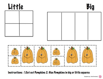 Fall Halloween BIG and Little Activity (Smores and Pumpkins)