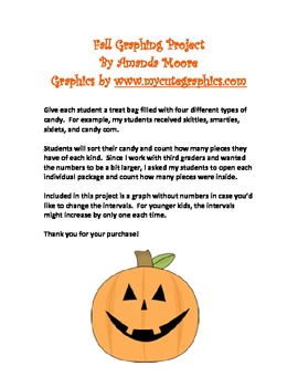 Fall Halloween Bar Graph Project