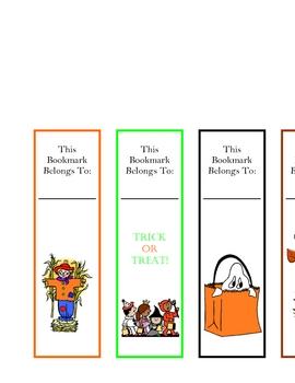 Fall / Halloween Bookmarks!