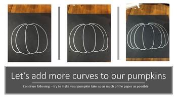 Fall Halloween Chalk Art Pumpkin Art Lesson Kids 3rd 4th 5th 6th project black