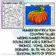 Fall & Halloween Coloring by Code Worksheets Math and ELA