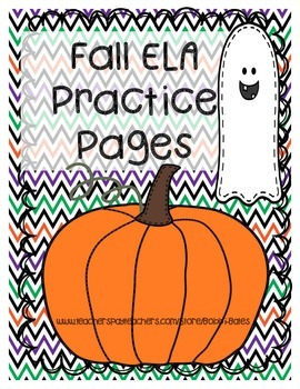 Fall-Halloween ELA Practice Pages