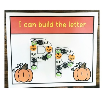 Fall and Halloween Fine Motor Alphabet Practice and Literacy Center!