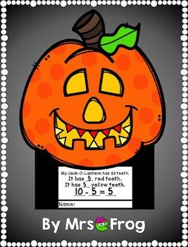 Fall / Halloween Jack-O-Lantern Math Craftivity