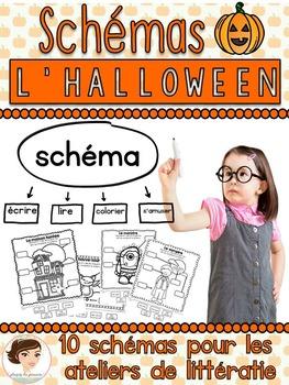 Schémas d'automne et d'Halloween  - French