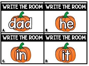 Fall / Halloween Literacy Center:  Write the Room (Level B - Jan Richardson)