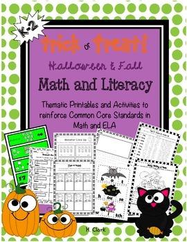 Fall ~ Halloween Math & Literacy Activities ~ Printables ~