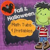 Halloween Math Centers and Printables